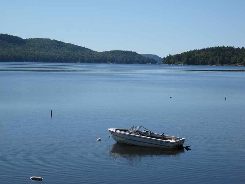 Small boat on Schroon Lake