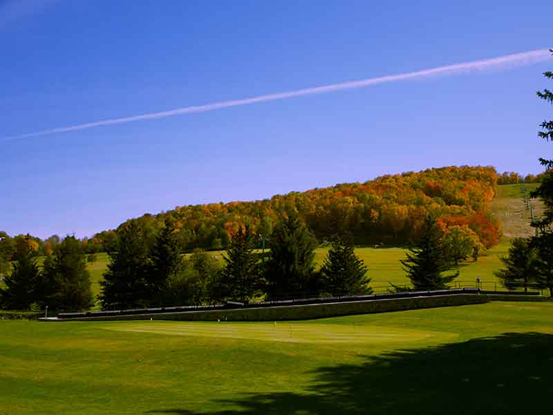 Holiday Valley slope in Ellicottville NY during fall