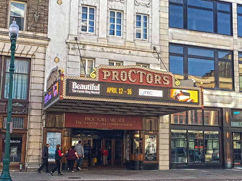 Proctors Theatre facade in Schenectady NY