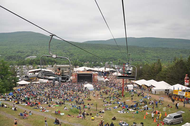 Mountain Jam at Hunter Mountain in the Catskills as seen from the chairlift
