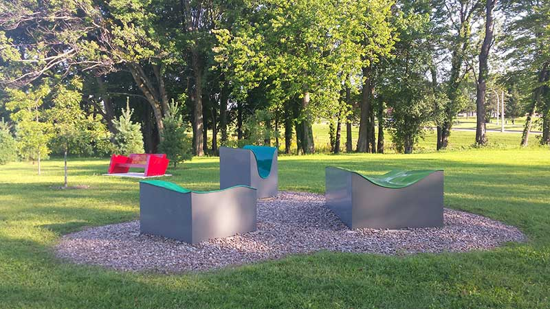 Griffiss International Sculpture Park in Rome NY