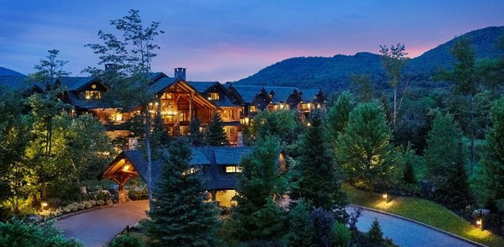 Exterior view of Whiteface Lodge in Lake Placid NY