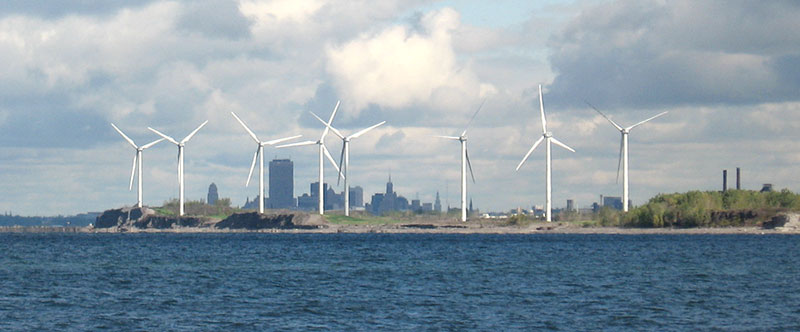 Steel Winds, a wind energy farm located just south of Buffalo NY on Lake Erie