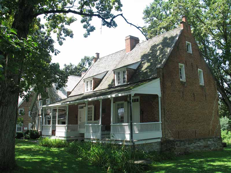 Exterior of the Bronck House in Coxsackie NY