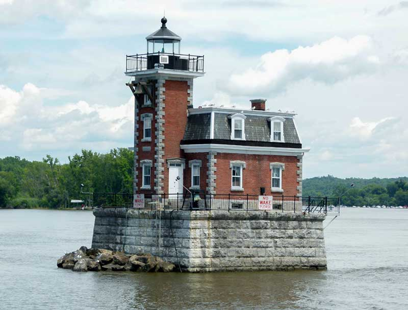 The Hudson-Athens Lighthouse located on the Hudson River
