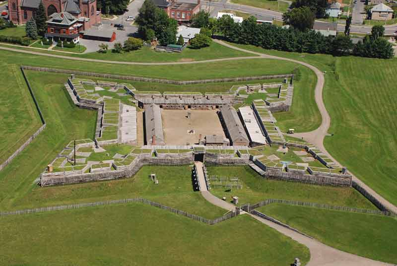 Aerial view of Fort Stanwix