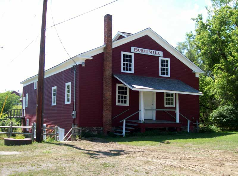 Exterior of the Busti Grist Mill building, now home to the Busti Historical Society Museum