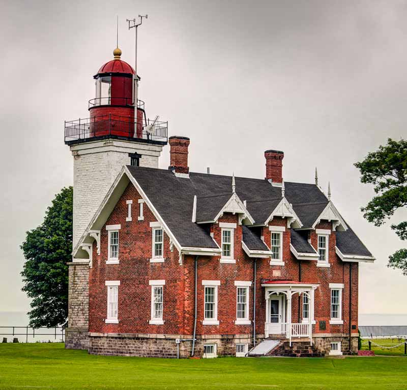 The Dunkirk Lighthouse on Lake Erie