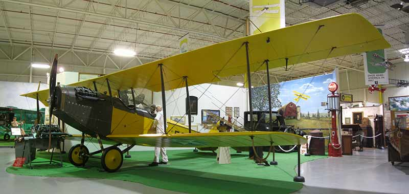 The Jenny airplane model at the Glen H. Curtiss Museum