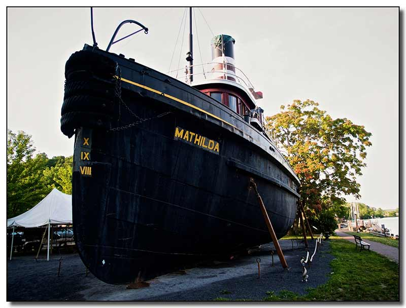 Mathilda at the Hudson River Maritime Museum