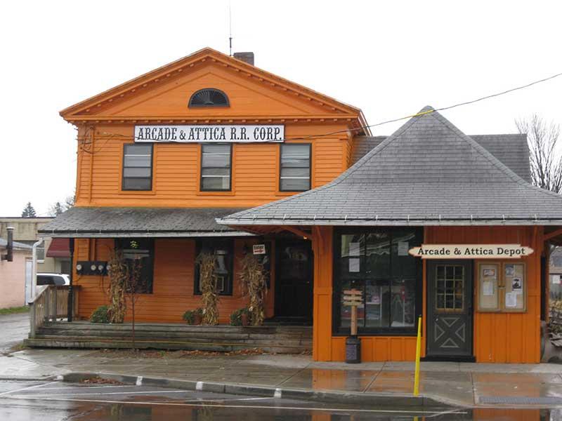 Aracde & Attica Railroad Building in Arcade NY