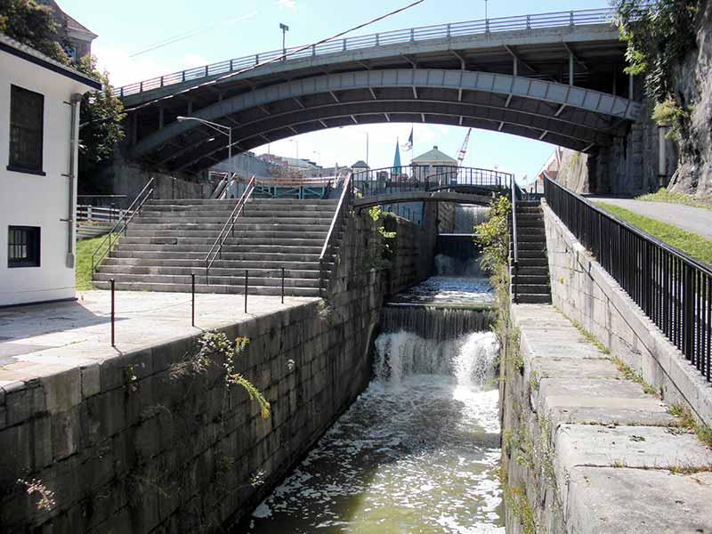 Flight of Five Locks in Lockport NY