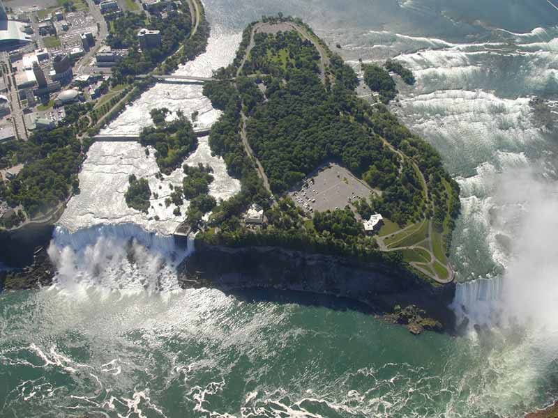 Niagara Falls State Park as seen from above