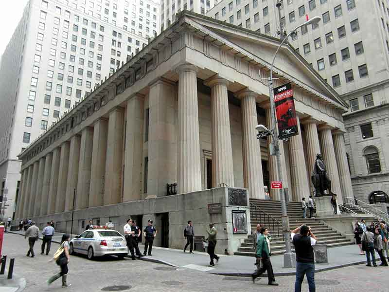 Federal Hall in NYC's Financial District