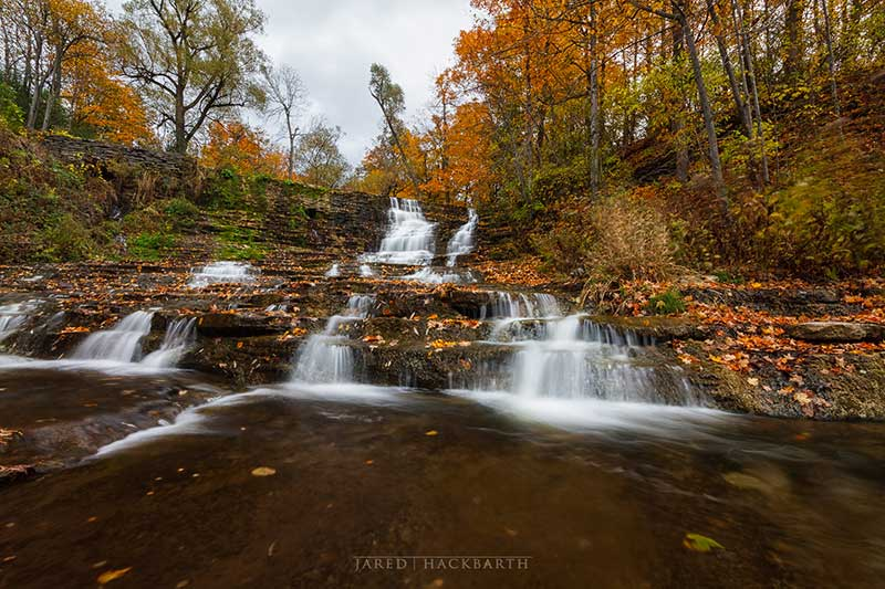 The waterfalls at Burrville Cider Mill