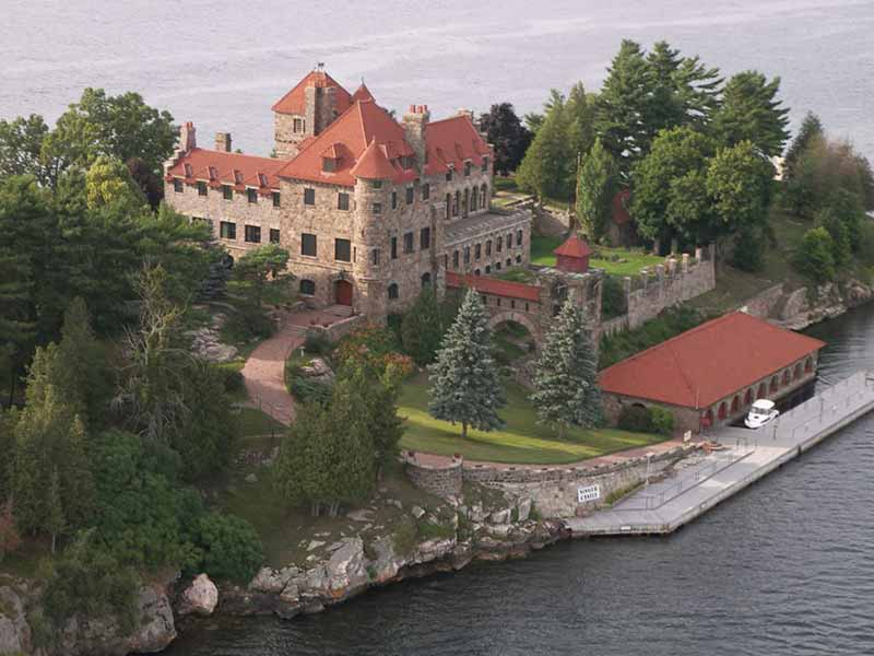 Singer Castle on Dark Island in the St. Lawrence River