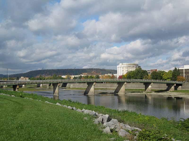 Chemung River in Elmira NY