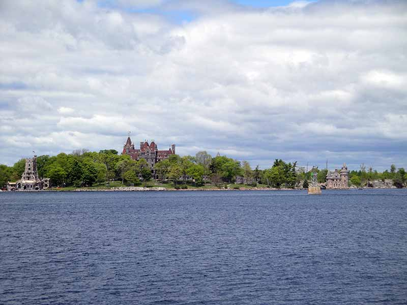 View of Heart Island and more in Alexandria Bay on the St Lawrence River