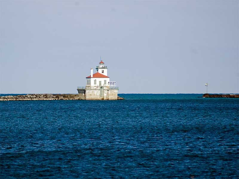 Oswego Light House on Lake Ontario in NY